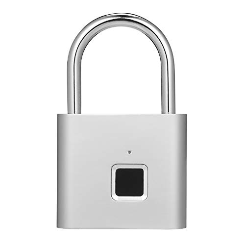 Extaum Smart Lock Candado con Huella Digital USB Recargable IP65 Resistente al...
