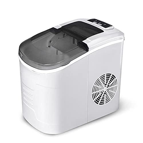 Máquina de fabricante de hielo en contador, máquina de hielo automática compacta, 9 cubos listos en 8-10 minutos, fabricante de cubos de hielo portátil con cucharada y canasta