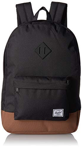 Herschel Supply Co. Unisex-Adult Heritage Backpack, Black/Saddle Brown, One Size