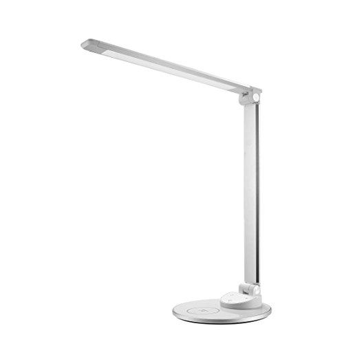 LED Schreibtischlampe mit kabelloser Ladestation TaoTronics HyperAir-Technologie 7.5W Schnellladegerät kompatibel mit iPhone X / 8/8 Plus, 10W mit Galaxy S8 / S7 / Note 8 & alle Qi-fähigen Geräte