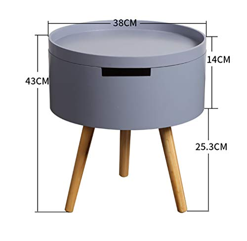 YWXCJ Tables Basses Table Pliante Table d'angle Ronde Salon Table de téléphone Petite Table Ronde Table Basse Table d'appoint canapé canapé Petite Table Ronde (Couleur : Gray)