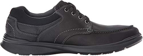 Clarks Men's Cotrell Edge Oxford, Black Oily Leather, 8.5 W US