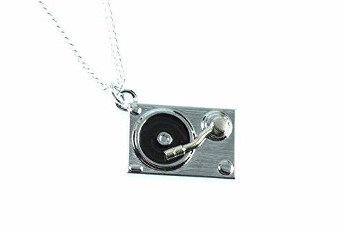 Miniblings Plattenspieler Kette Halskette 45cm DJ Musik Musiker Schallplatte