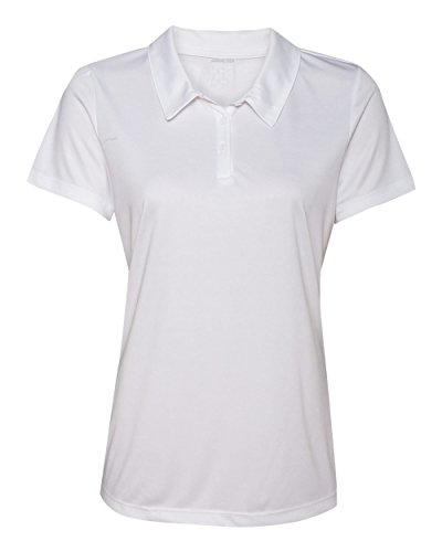 Women's Dry-Fit Golf Polo Shirts 3-Button Golf Polo's in 20 Colors XS-3XL Shirt White-S 3 Button Polo Collar
