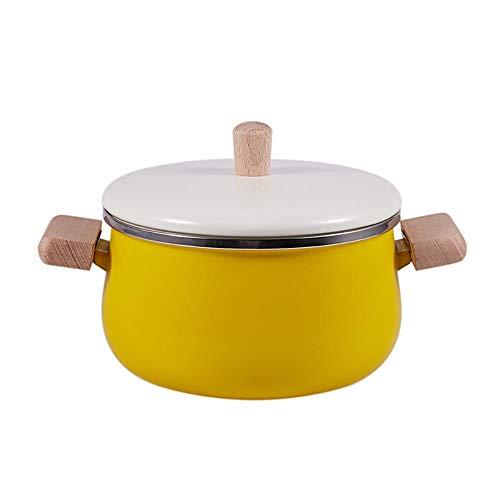 Ltong Porselein Melkpot Emaille Hot Pots Kookpan Non-stick soeppan met deksel Inductie kookplaatKookgerei