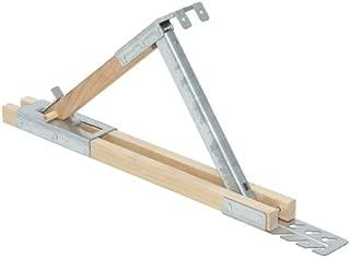 Qualcraft 2510 Adjustable Wood/Steel Roof Bracket, 12-Inch