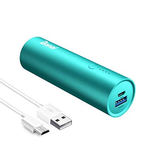 BONAI Klein Powerbank 5800mAh Externer Akku Handy Mini und Leichte Power Bank mit Micro Kabel für Samsung Galaxy,Android Phones,Huawei,iPhone,iPad,und viele mehr Smartphones-Minze