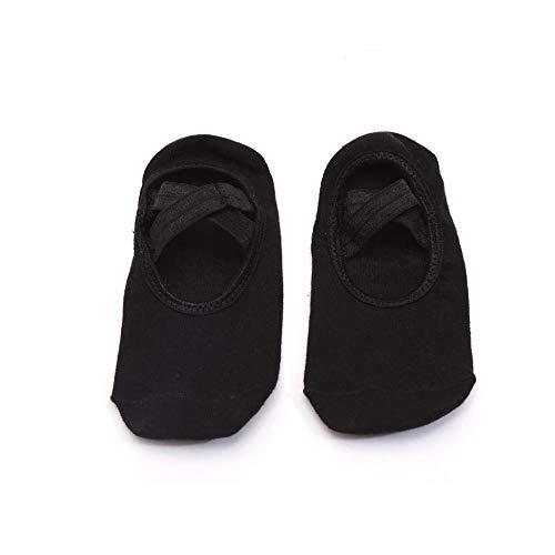 Befitery Calcetines de yoga antideslizantes de alta calidad para pilates, barra, ballet, danza, para mujer Negro Talla única