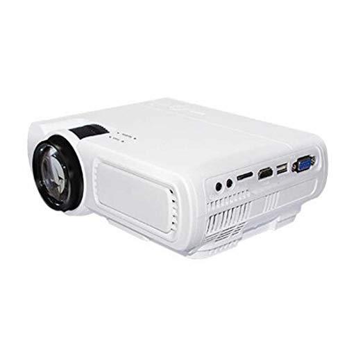 Projektor 1080P, 1800 Lumen Videoprojektor mit gebürtigen 800 * 480P Elektronischen 4k ± 15 ° Trapezkorrektur LED-Projektor Unterstützung LCD-Projektor kompatibel Smartphone TV Box (Color : A)