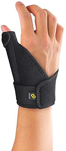 BRACOO TP30 Daumenbandage für rechts & links, Schiene Daumengelenk Bandagen Daumenschiene Daumenstütze, daumen orthese (schwarz)