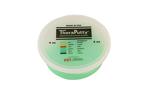 Cando 264345 TheraPutty Plus Anti-Microbial, Green: Medium, 4 oz