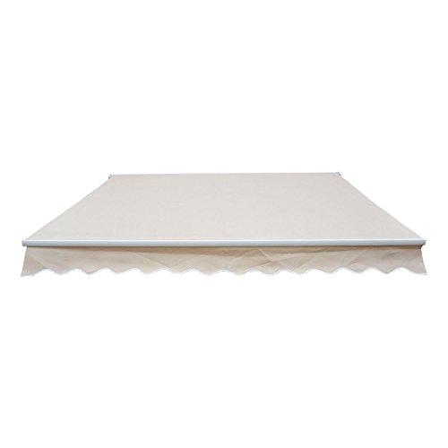 Outsunny® Markise Alu-Markise Aluminium-Gelenkarm-Markise ca. 4,5x3m creme - 4