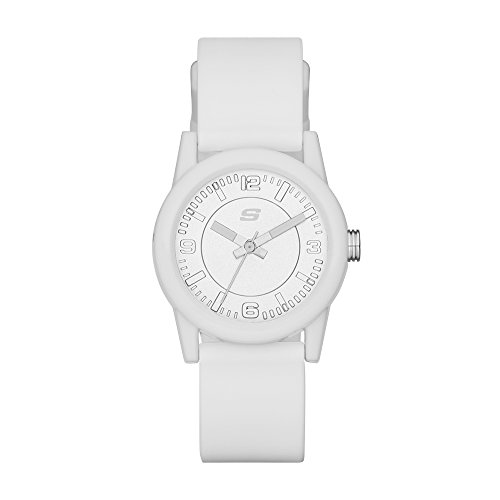 Skechers Women s Rosencrans Mini Three-Hand Silicone Quartz Watch, Color: White (Model: SR6029)