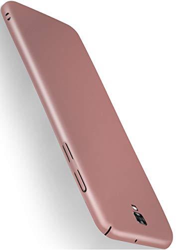 MoEx® Backcover [Ultra-Slim Design] passend für LG X Screen | Stabile Hartschale mit optimalem Stoß- & Kratzschutz - Matt Metallic Rosé-Gold