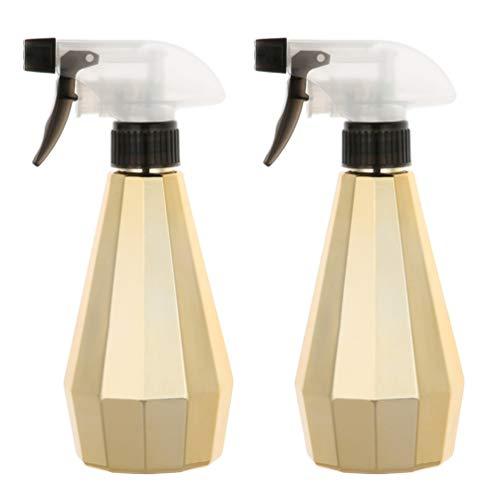 Minkissy 2Pcs Flacons de Pulvérisation Vides en Plastique Conteneurs de Pulvérisateur Rechargeables pour Solution de Nettoyage Liquide Jardinage Déclencheur D'eau