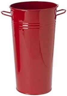 Houston International 8300E XR 7-Inch Steel Vase, Red