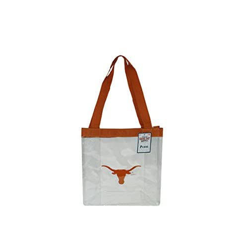 Multicolor Game Day Outfitters NCAA Texas Longhorns Clear PVC Ladies Purse One Size