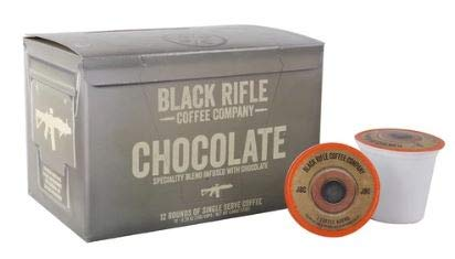 Flavored Coffee by Black Rifle Coffee Company (Chocolate, 12 Count Rounds)