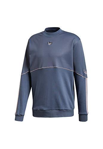 adidas Originals Crewneck Herren Outline CRW FT FM3861 Blau, Größe:XL