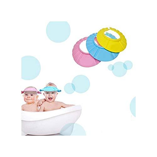 Bébé/Enfant Shampooing baignoire douche cheveux de lavage bouclier - rose