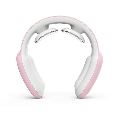 Neck Massager - Smart Electric Neck and Shoulder Massager,Pain Relief Tool Health, Care Relaxation Cervical Vertebra Physiotherapy, Pink