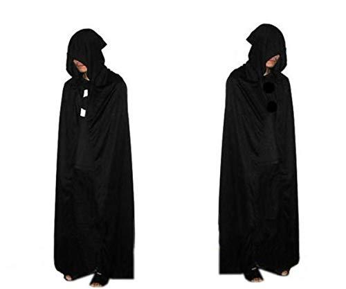 Czlsd Disfraz de Halloween para nios y adultos, capa de mago de la muerte, disfraz de vampiro