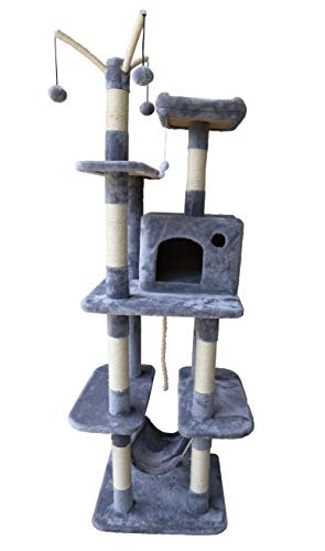 MaxxPet Tiragraffi per gatti – Altezza 160 cm – Grigio