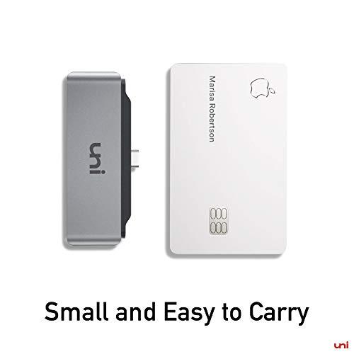 uni USB C Hub für iPad Pro 2020/2018 (4K@60Hz), 4 in 1 USB C Multiport Adapter, Unterstützt 4K@60Hz, 3,5 mm Audio, 60W Aufladung, kompatibel für MacBook, Surface Pro 7, Galaxy S20,Huawei P40 und mehr