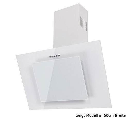 Dunstabzugshaube Wandhaube F.BAYER FIRE 80W 80cm Weiß Weißglas Dunstabzug 500m³/h EEK D LED