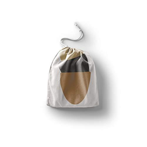 Bonamaison Impreso Algodón Bolsas con Cordón, Bolsa con Cordel para el Hogar y el Almacenamiento de Verduras, Bolso de Compras, Plegable, Ecologica, Reutilizables, Tamaño: 20x30 Cm