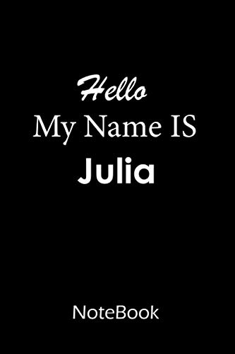 Julia : Notebook / journal : This NoteBook is For Julia: lined paper notebook 6*9, 200 pages.