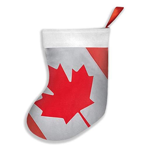 Ye Hua Kanada Flagge 1 Weihnachtsstrümpfe Manschette Strümpfe für Familienurlaub Xmas Party Dekorationen