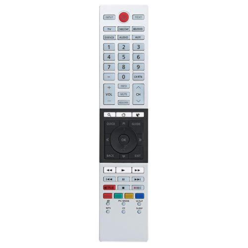 Garsentx Control Remoto HD Smart TV, Servicio de reemplazo de Control Remoto Adecuado para Toshiba CT-90430 CT-90429 CT-90427 CT-90428 Ct-90444 4K Ultra HD TV