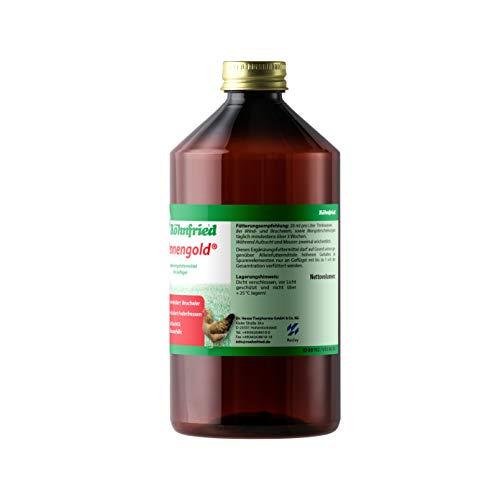 Röhnfried Hennengold Nahrungsergänzung (1000 ml) mit Mineralien & Calcium für Hühner, Trinkwasserzusatz gegen Brucheier & zur Mauserhilfe, Aufzuchtfutter - 3