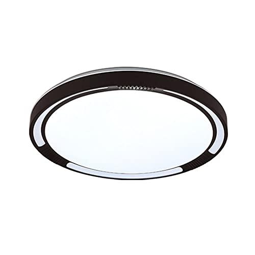 FANGXMF Lámpara de techo LED ultradelgada Luz LED de panel plano moderno Accesorio de iluminación de montaje en superficie Temperatura de 3 colores CCT Luz diurna seleccionable Lámparas de techo redon