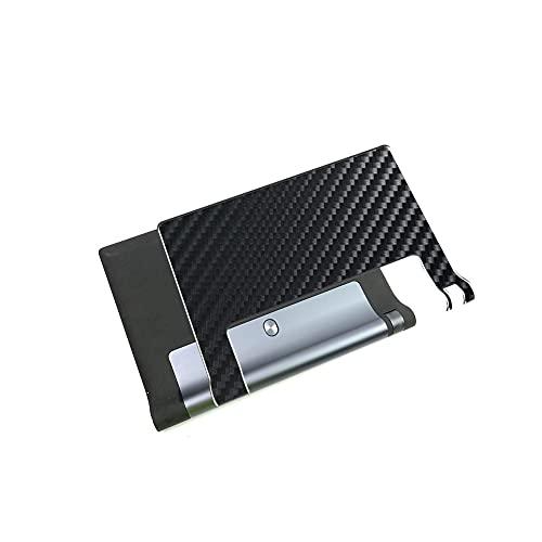VacFun 2 Piezas Protector de pantalla Posterior, compatible con Lenovo YOGA Tab 3 10 X50F 10', Película de Trasera de Fibra de carbono negra Skin Piel