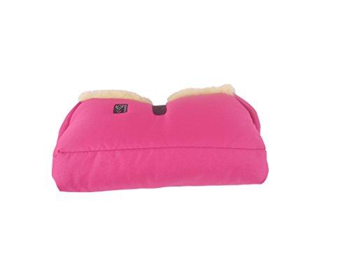 Kaiser Big Double - Calentador de manos para carrito, interior de borreguito artificial (no contiene lana) rosa
