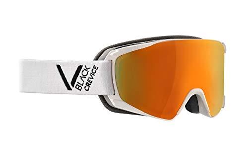 Black Crevice Unisexe - Adulte, Blanc/Noir - Masque de Ski - Taille M (Tour de tête 55-58 cm)