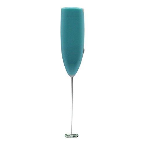 Qinlee Edelstahl Mini-Mixer Elektrischer Schneebesen für Eier Milchaufschäumer Kaffeemischer Handgehaltener elektrischer Rührstab Küchenzubehör Küche DIY Gadgets (Blau)