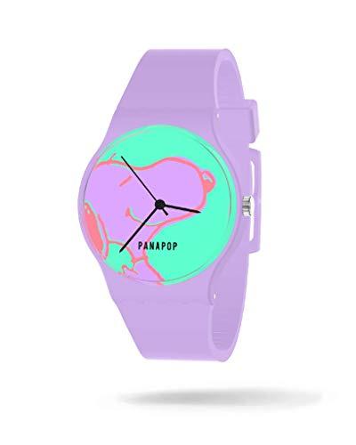Panapop | Dreamer | Reloj Pulsera Mujer | Correa Azul Marino Silicona | Estampado Snoopy Peanuts | Licencia Oficial