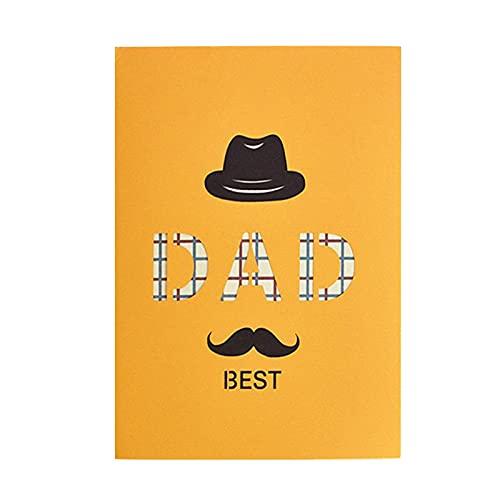 3D fars dag kort eller födelsedagskort, Hansensi presentkort för pappa fars dag, 3D popup gratulationskort för far, 20 x 15 cm fars dag gåva personligt välsignelse kort med kuvert (B)