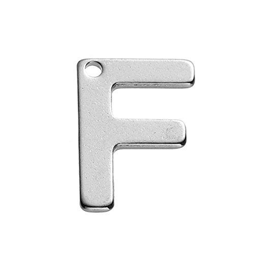 Sadingo letters hanger roestvrij staal, knutselen initialen - 11 mm - 1 stuk - armbanden, kettingen, selectie mogelijk