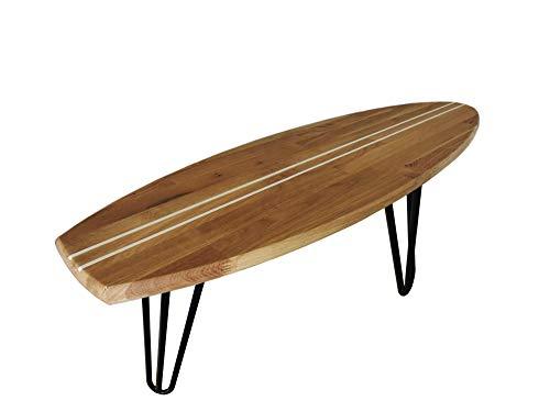 ICEBORN Surfboard Aloha 118cm Eiche Couchtisch Wohnzimmertisch Sitzbank Lowboard TV-Board Manufaktur