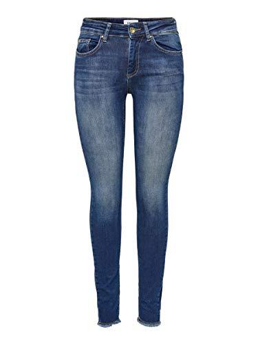 ONLY Female Skinny Fit Jeans ONLBlush Life Mid Ankle S32Dark Blue Denim