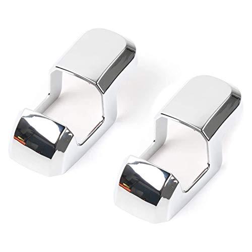 FangFang Ajuste para Ford F150 2015-2020 Asientos de automóviles Cinturón de Seguridad Botón Cubierta Frame Frame Hebilla de Seguridad Decoración Accesorios Accesorios (Color Name : Silver)