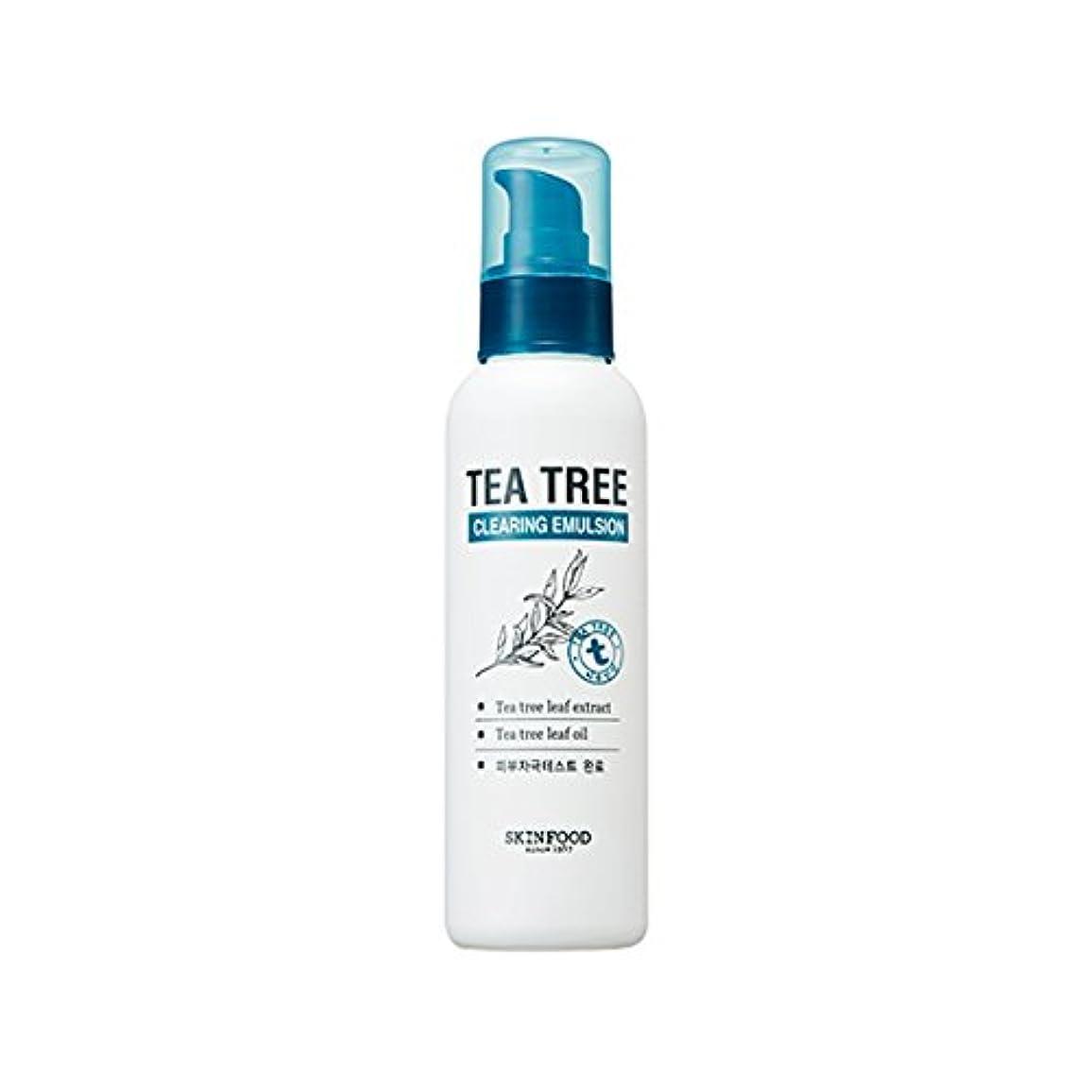 不平を言うディレクトリ悪行SKINFOOD Tea Tree Clearing Emulsion 135ml/スキンフード ティーツリー クリアリング エマルジョン 135ml [並行輸入品]