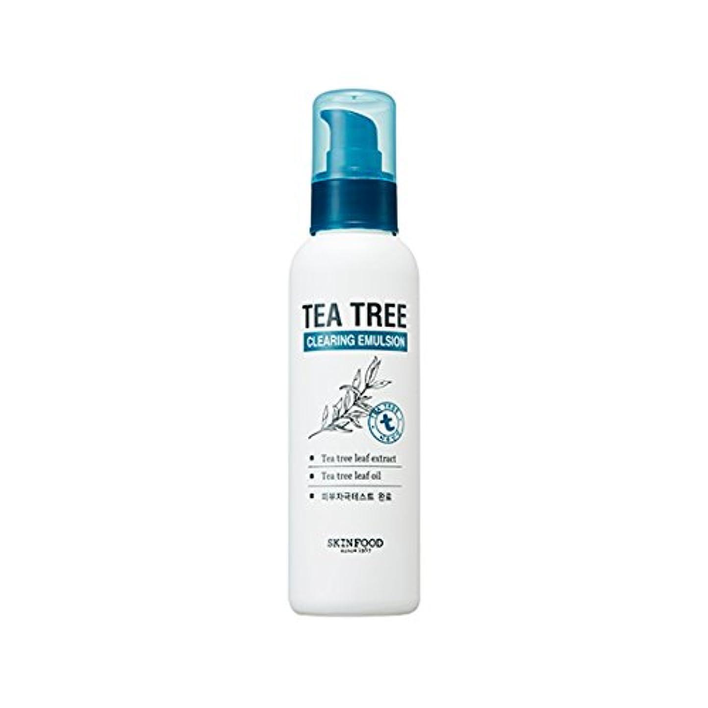 超越するガラスペグSKINFOOD Tea Tree Clearing Emulsion 135ml/スキンフード ティーツリー クリアリング エマルジョン 135ml [並行輸入品]