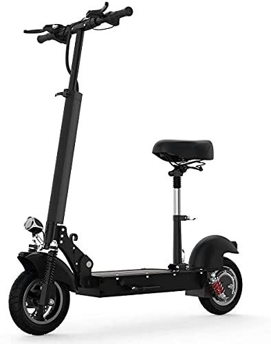 Aocase Scooter eléctrico Adultos con Asiento extraíble, Potente Motor 500W y Velocidad...