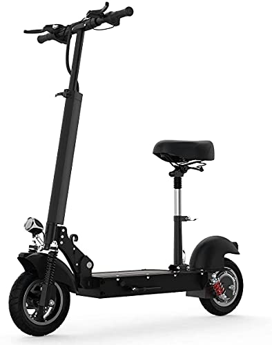 Aocase Scooter eléctrico Adultos con Asiento extraíble, Potente Motor 500W y Velocidad máxima 28 mph, 36V 10Ah batería de hasta 19 Millas de Largo Alcance, Plegable