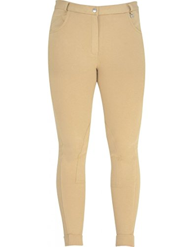 Melton William Hunter Equestrian HyPERFORMANCE-Pantaloni alla cavallerizza da donna, 32 cm, colore: beige